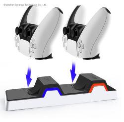 PS5充満立場のための新しい充電器ベースアクセサリはPS5無線コントローラPS5充満端末のためのLEDライトが付いている二倍になる