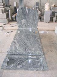 الحجر الطبيعي Kuppam Green Granite Tombstone Monument for Cremmetery Garden