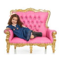 Оптовая торговля детьми из кожи высокого качества свадьбы стул детей невесты и жениха детский диван кресло
