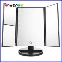 Maquillaje de luces LED de 21pcs Rotación libre Tabla descriptiva de la Encimera espejo del baño