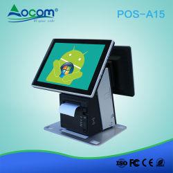 POS-A15 Windows Android POS écran tactile caisse enregistreuse électronique avec l'imprimante