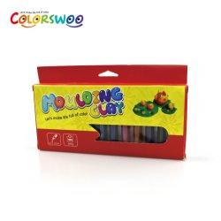 Argilla di modellistica Trigonal dei capretti del giocattolo dei bambini, pasta del gioco, 200g 12colors