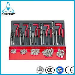 131pcs conjunto de la reparación de roscas para la reparación de rotura de hilo en la caja de metal