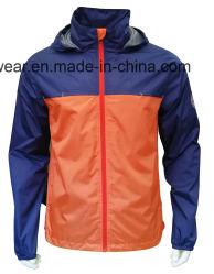 남자 겉옷 두건이 있는 비옷 방수 재킷