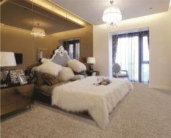 寝室の居間の厚遇の会議室のホテルの宴会のホールの一面のカーペットのポリプロピレンのPPによって房状にされている切口のループ・カーペットのロールスロイスの絹