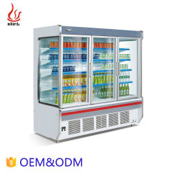 Wiberdaの冷凍食品冷却装置表示スリラーの開いたスーパーマーケットのフリーザー