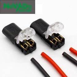 2P du connecteur de printemps sur le fil avec aucune soudure aucune vis rapide Collier de serrage du câble du connecteur 2 voies du bloc de jonction Easy Fit pour bande LED
