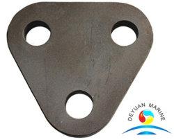 Aço carbono preto placa triangular com três orifícios