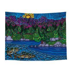 L'art abstrait de l'image colorée tapisserie murale