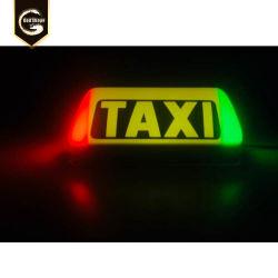 vuoto che forma il contenitore chiaro superiore LED di tassì del tetto dell'automobile che fa pubblicità alla parte superiore LED del tassì dei segni con Magnets-0416f