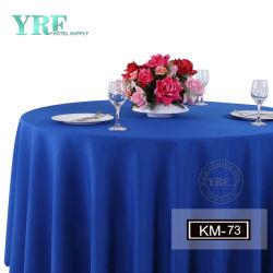 Luxueux de linge bleu capot table Nappe nappe rond bleu