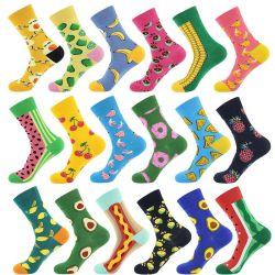 Il poliestere di lavoro a maglia delle signore della signora Socks Fruit Socks Cheap di alta qualità colpisce con forza il fornitore dei calzini dei calzini di sport della donna di Calcetines dei calzini della squadra del cotone in Cina