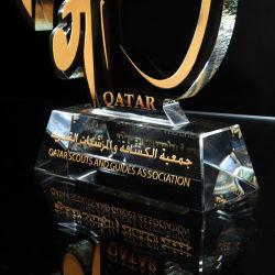 Ventes en gros K9 Prix de souvenirs de la Conférence trophée de cristal avec la conception personnalisée (084)