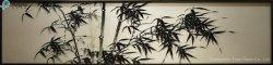 Le bambou peinture sur verre pour la décoration intérieure (MR-YB6-2035B)