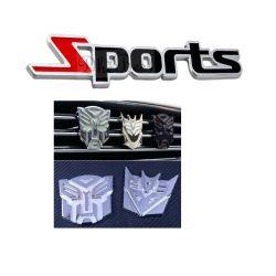 Customized Cromada Carro de Metal Emblema Logotipo Badge com Stick fazendo backup de disco em esmalte forma redonda