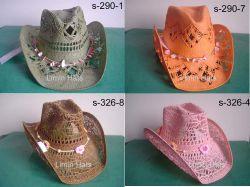 Скрученная бумага Red Hat Cowgirl соломы