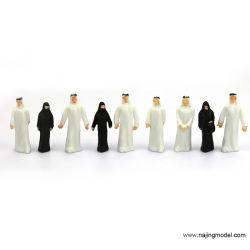 Alb50 20pcs Bahnplan Modellfiguren O Maßstab 1: 50 stehende Araber
