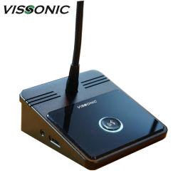 تصميم Vissonic Classic ميكروفونات نظام مؤتمرات الفيديو بالصوت الرقمي بالكامل