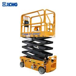 XCMGの電気移動式エレベーターは上昇8mの販売のためのGtjz0607空気作業プラットホームを切る