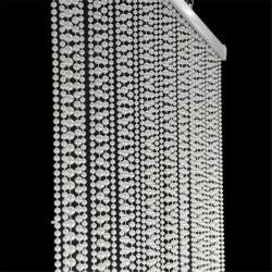 Türvorhang Mit Perlmutt, Weiße Perlkette Und Raumteiler