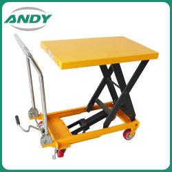 Portátil de 150kg de tijera hidráulica manual de la plataforma de elevación coche tabla