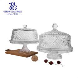 piatto di vetro elegante della torta di figura rotonda di 288cm con il coperchio (GB1899ZH)