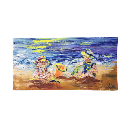 Мода Быстрый сухой песок с термической возгонкой доказательства пляж из микроволокна полотенце