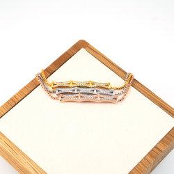 一義的な袖口の魅力の腕輪の方法ラインストーンの宝石類の細い魅力のブレスレット
