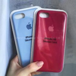 Gel de silicona original líquido a prueba de golpes de goma suave forro de paño de microfibra Caso compatible con cojín para el iPhone 6/7/8 Plus para iPhone X/Xs XR 11 12 PRO MAX