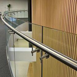 Fabrik Großhandel Quadratische Ajustable Glas Edelstahl Handlauf Balustrade Treppe Geländer Wandhalterung mit CE