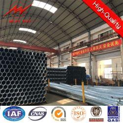 Los postes de energía eléctrica de galvanizado de planta octogonal