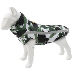 リフレクティブ(再帰反射)素材のパッド入りコート(犬用