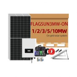 태양광 에너지 1MW 2MW 3MW 5MW 10mW 태양열 발전 Gird의 시스템