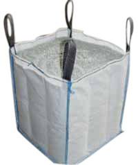 1000kg super sacos tecidos de defletor de PP de cimento a granel Big Bag