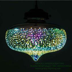 Новая конструкция многоцветный ресторан стекла подвесной светильник 3D-лампа