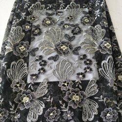 Rendas e bordados de casamento indiano preto toalhas de mesa com design de Ouro