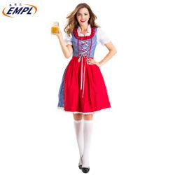 新しい女性のカスタム小型Dirndlの綿ポリエステル服