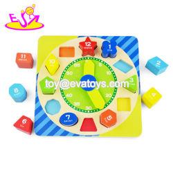 Nova Geometria Digital de madeira educacionais mais quente o relógio para crianças Dom W14K047
