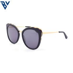 BV fuera de la moda de OEM Mujer Ojo de Gato de acetato de grandes gafas de sol