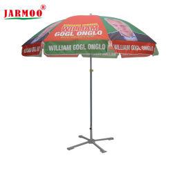 Настраиваемый логотип печать прямо на улице с УФ защитой ТЕБЯ ОТ ВЕТРА поощрения рекламы солнечные зонты из расчета Sun Beach зонтик (JMTYS)