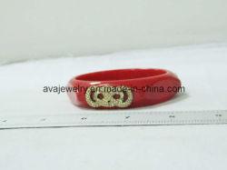 Braccialetto Per Elettroplaccatura In Lega Cava Agate Rosso Moda (Sl-3941)