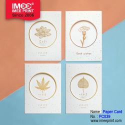 Imee danken kundenspezifischer Goldfolien-Geburtstag Ihnen Geschäfts-Einladungs-grüßende Papierkarte