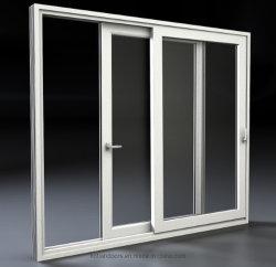 Weißer Farbe Belüftung-Fenster-Doppelverglasung-schiebendes Fenster-Entwurf