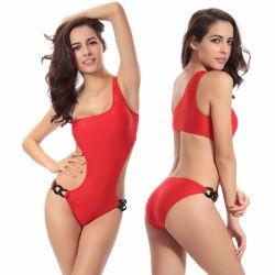 Annata Chain acrilica molto popolare di stagione di estate del modello a caldo contro uno Swimwear tagliato un pezzo solo della spalla più il formato XXL