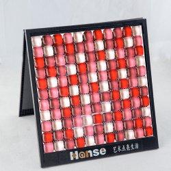 Pays-bas bâtiment rouge et blanc carreaux de salle de bains en mosaïque de verre mur