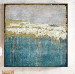 Abstrait bleu Oil-Painting 100 % HP