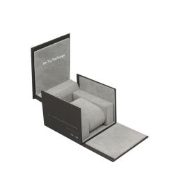 Elegante papel personalizado de madeira MDF Assista Dom caixas de Embalagem por grosso