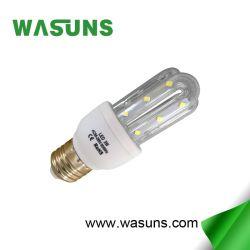 2U 3W E27 6500K U タイプコーン LED ランプ