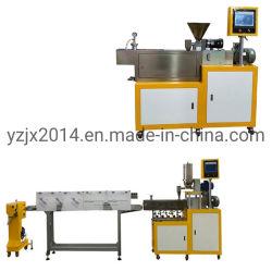 Mini-laboratoire de deux vis pour le plastique de l'extrudeuse de machine d'Extrusion PU PE PVC TPE TPU