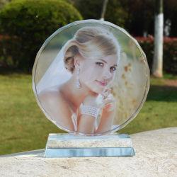 EISBERG-Foto-Rahmen-Glasmedaille der Qualitäts-K9 Kristallfür Andenken Ks25046
